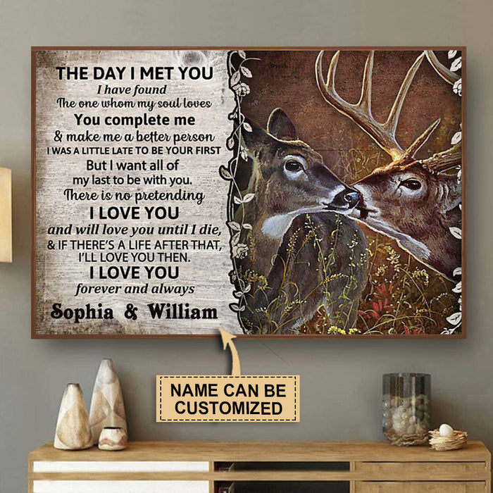 Personalized Deer The Day I Met Poster