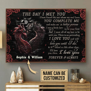 Personalized Dragon The Day I Met You Customized Poster