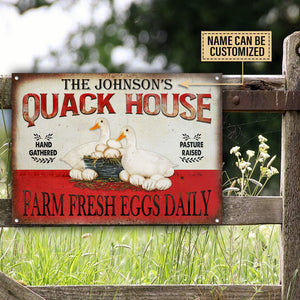 Personalized Duck Quack House Customized Classic Metal Signs