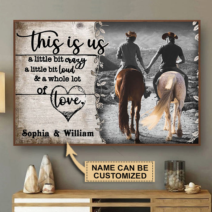 Personalized Horse Riding A Little Bit Of Poster