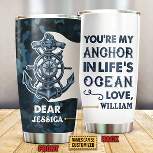 Personalized Sailor My Anchor Customized Tumbler
