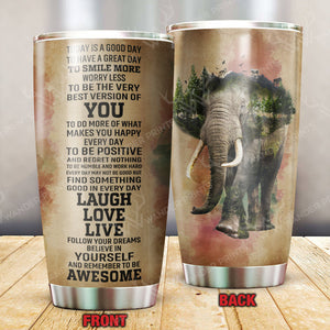 Today Is A Good Day Natural Elephant Tumbler