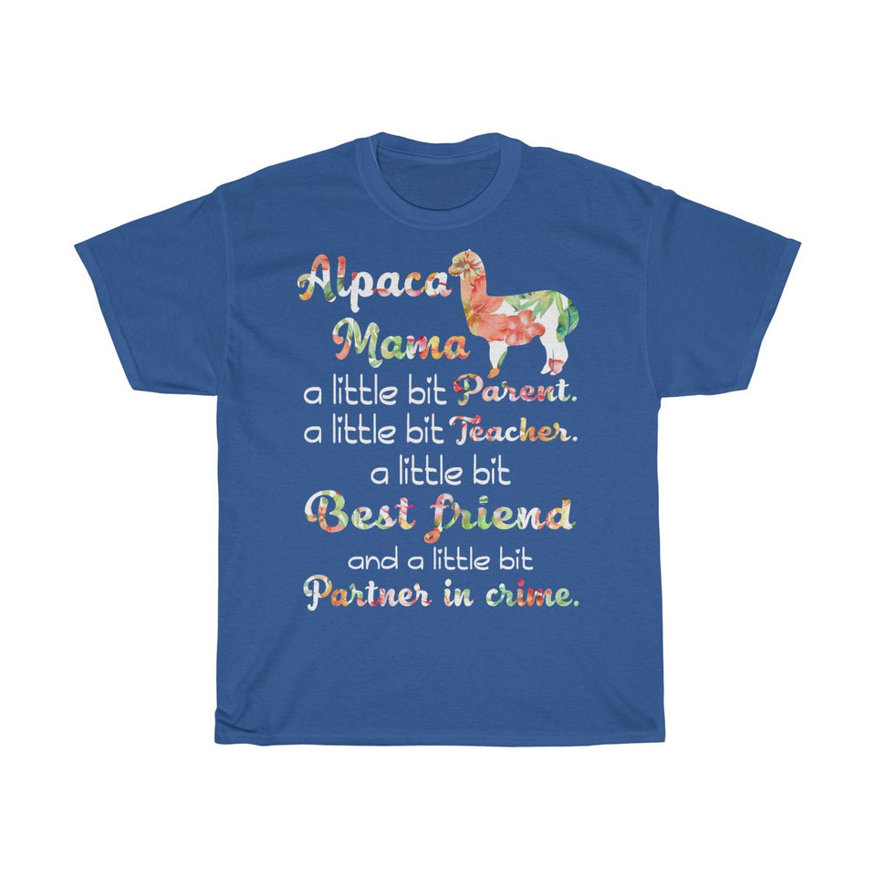 Alpaca Mama Parent Teacher Best Friend Tshirt
