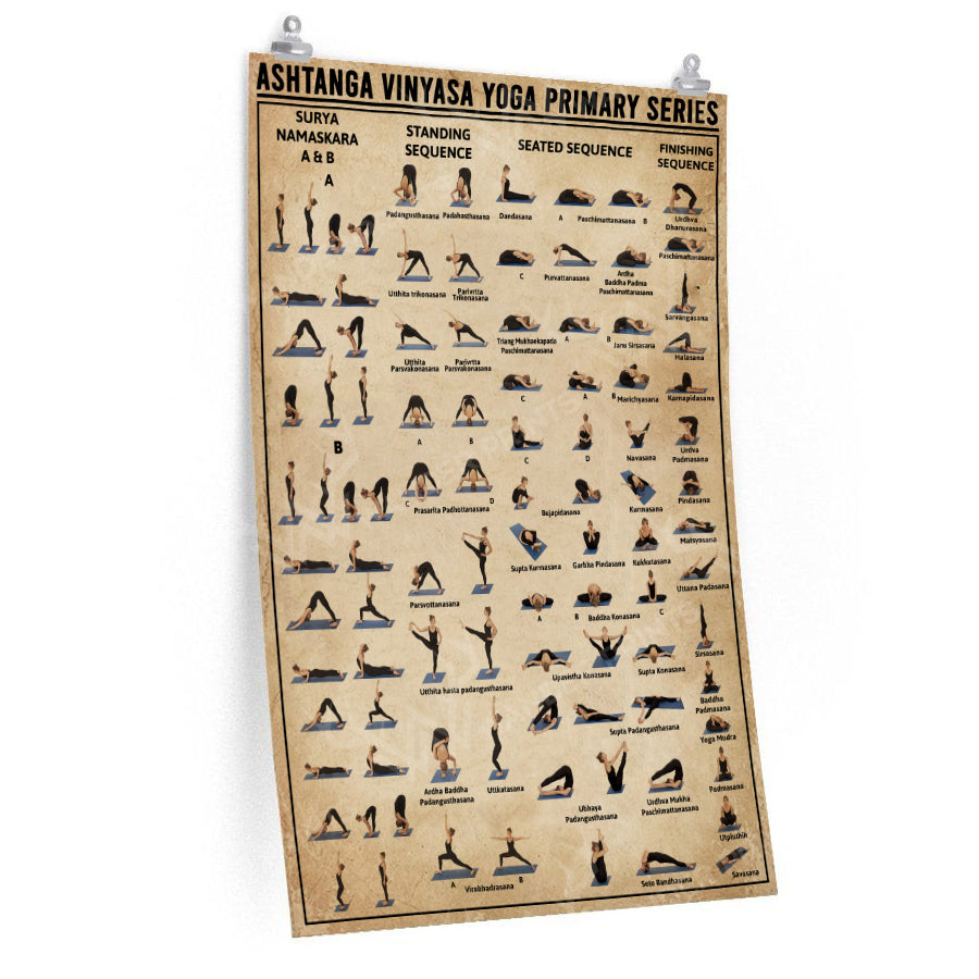 Ashtanga Vinyasa Yoga Primary Series Poster Wander Prints