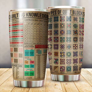 Quilting Knowledge Tumbler