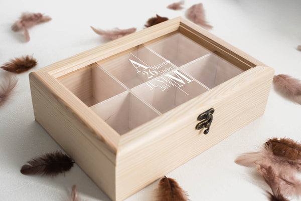 Modern Engraved Custom Jewelry Box    - GlobalWedding