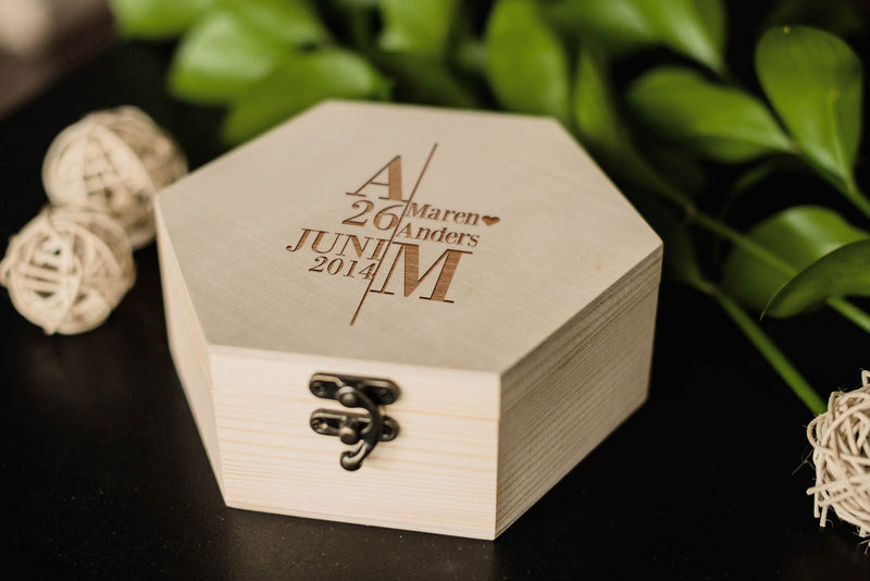 Modern Personalized Vintage Engraved Jewelry Box    - MatchMadeAbroad