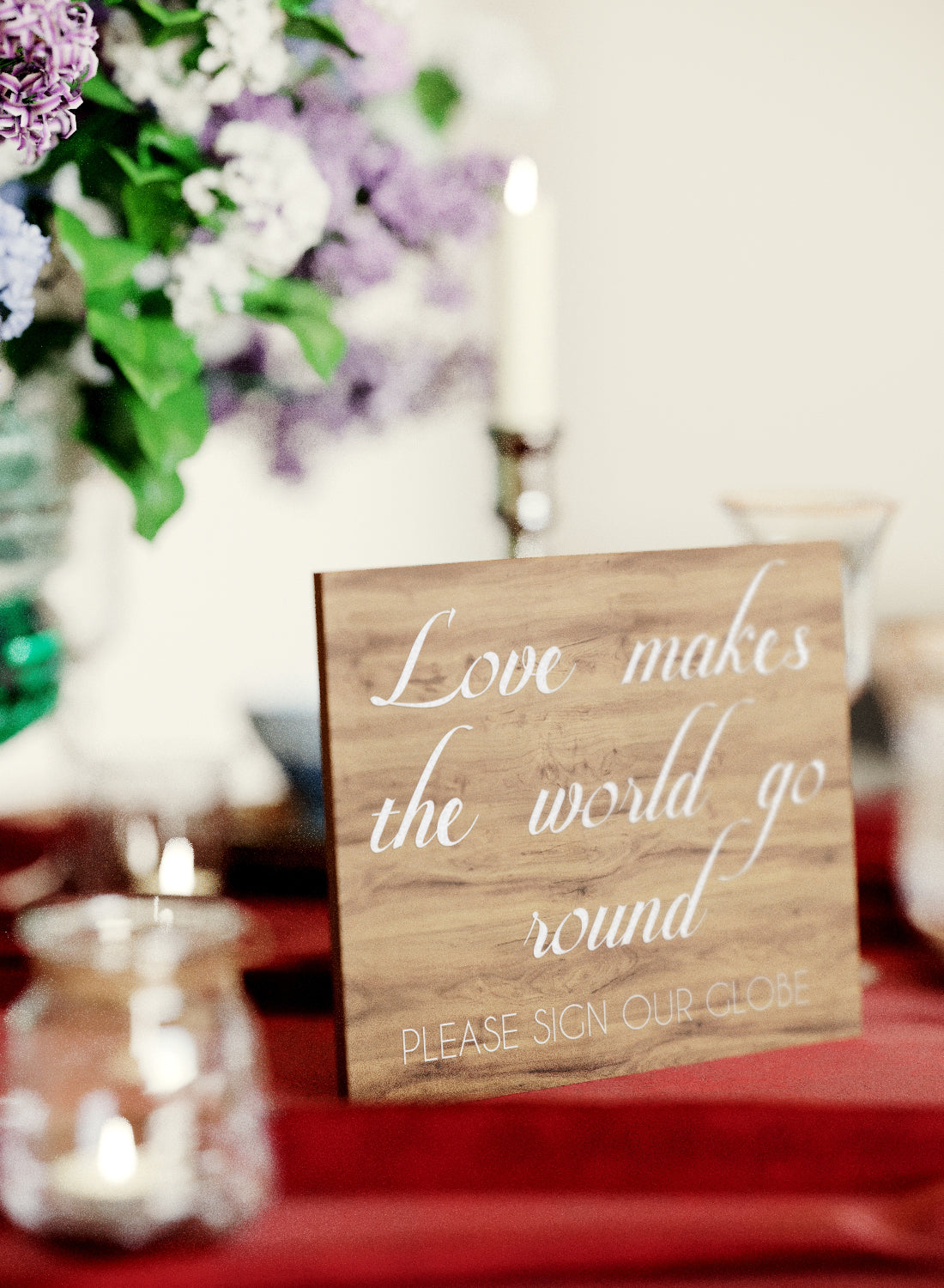 Acrylic Modern Stain Wedding Sign    - GlobalWedding