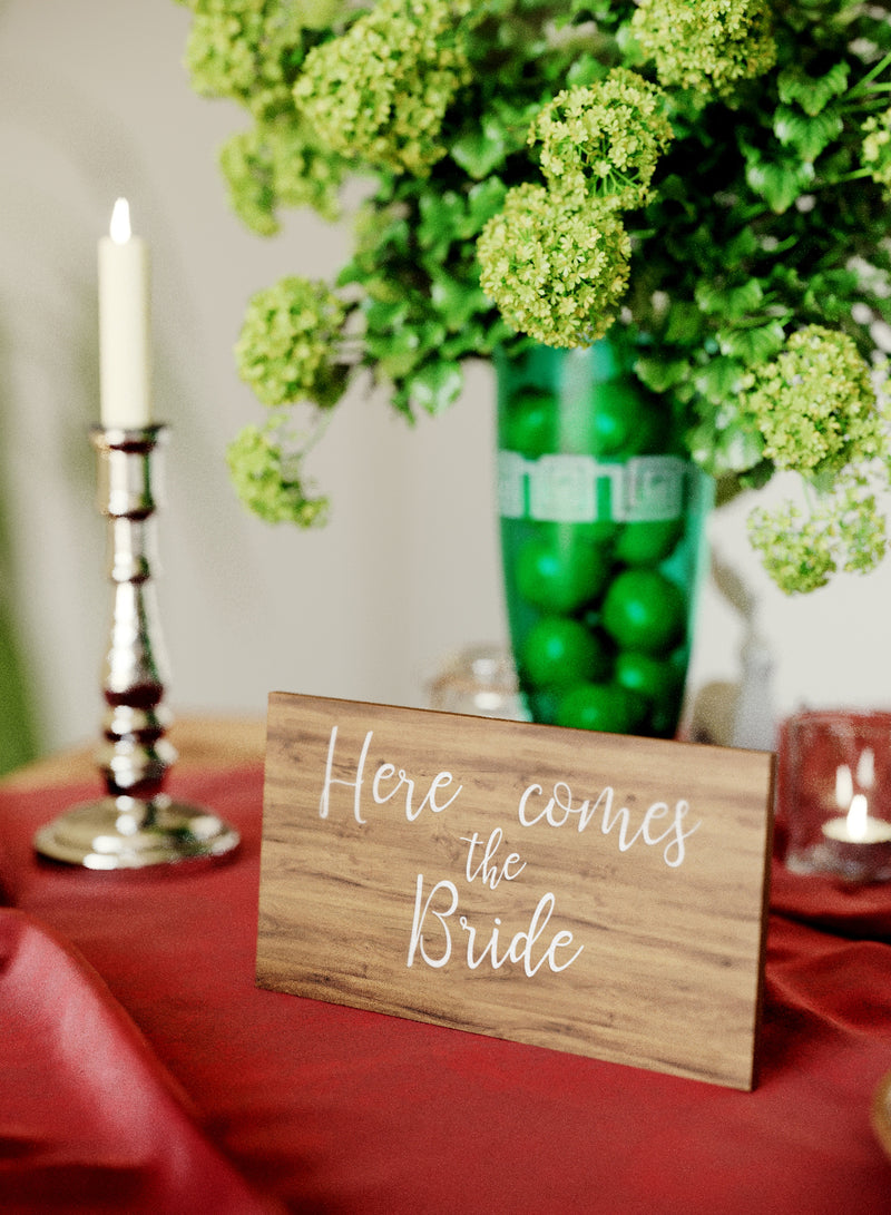 Light Handmade Glass Modern Wedding Sign    - GlobalWedding