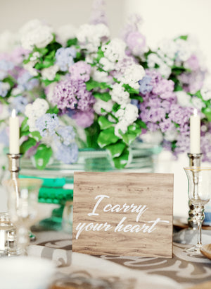 Geometric Vintage Glass Wedding Sign    - GlobalWedding