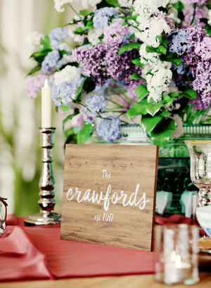 Glass Handmade Rustic Unique Wedding Sign    - GlobalWedding