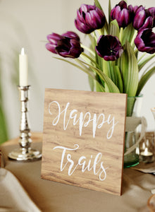 Elegant Glass Wedding Sign    - GlobalWedding