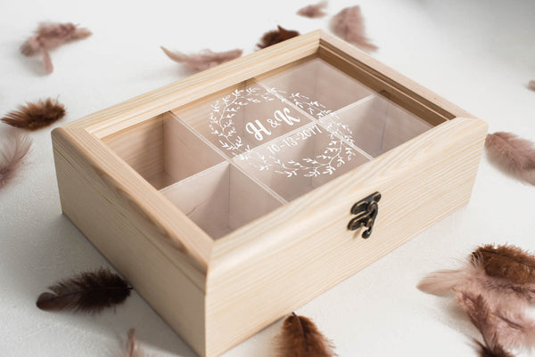 Engraved Vintage Wood Jewelry Box    - GlobalWedding