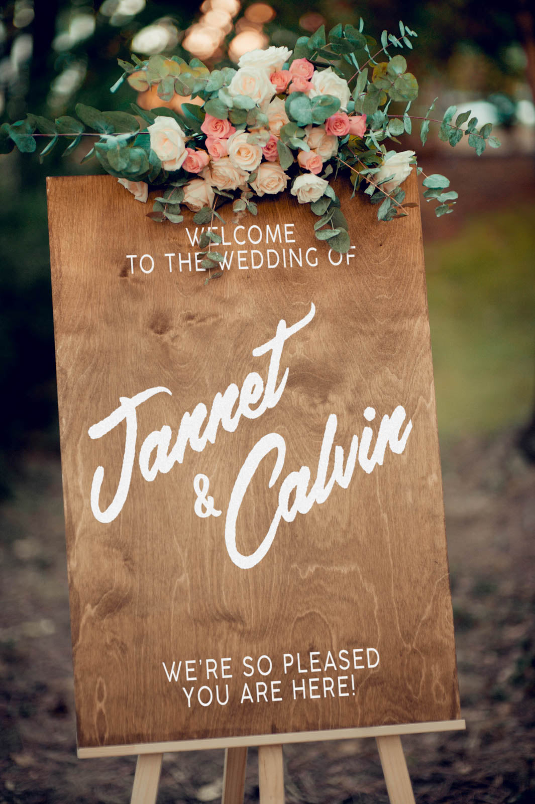 Wooden Personalized Welcome Sign