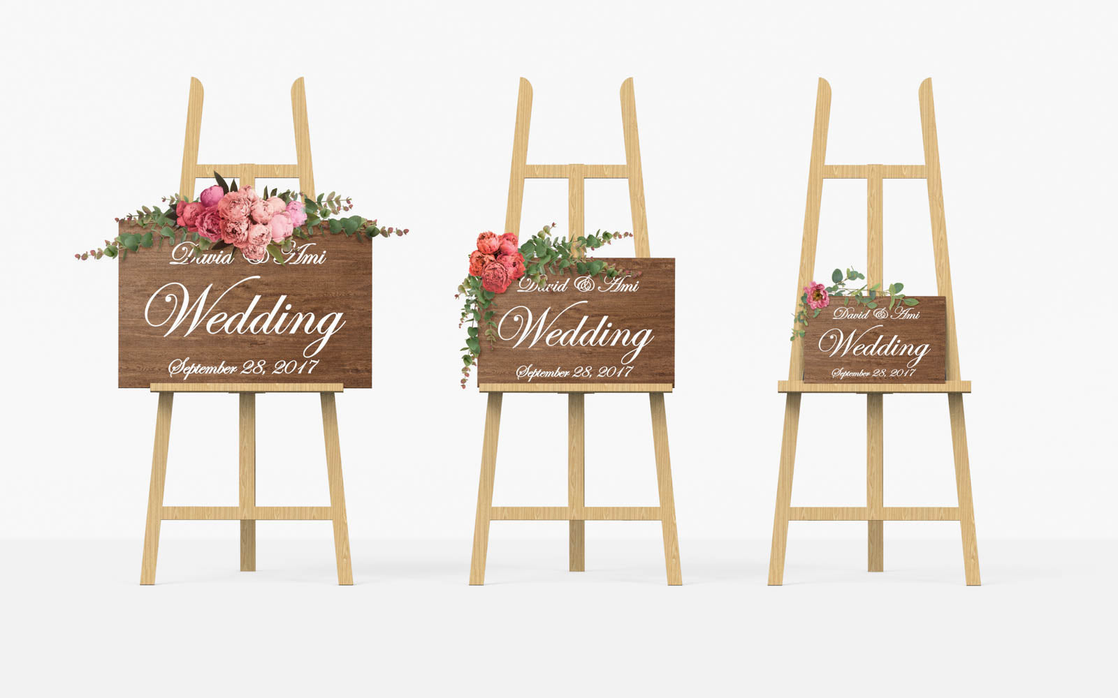 Rustic Wedding Wooden Welcome Sign