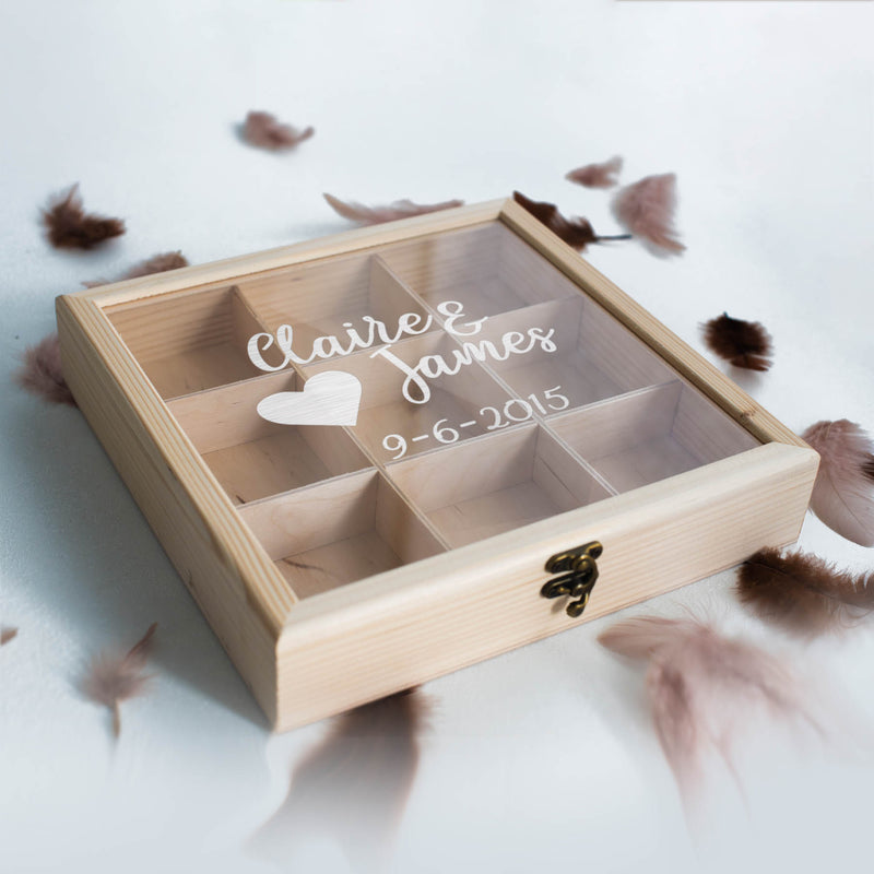 Engraved Elegant Vintage Jewelry Box    - GlobalWedding