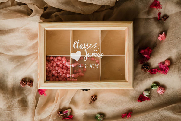 Personalized Glass Wood Jewelry Box