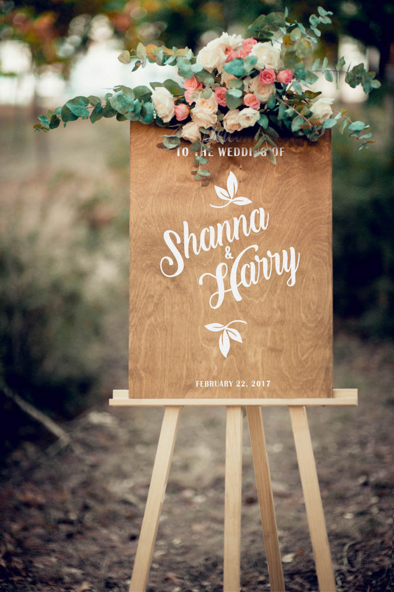 Personalized Custom Bridal Rustic Sign
