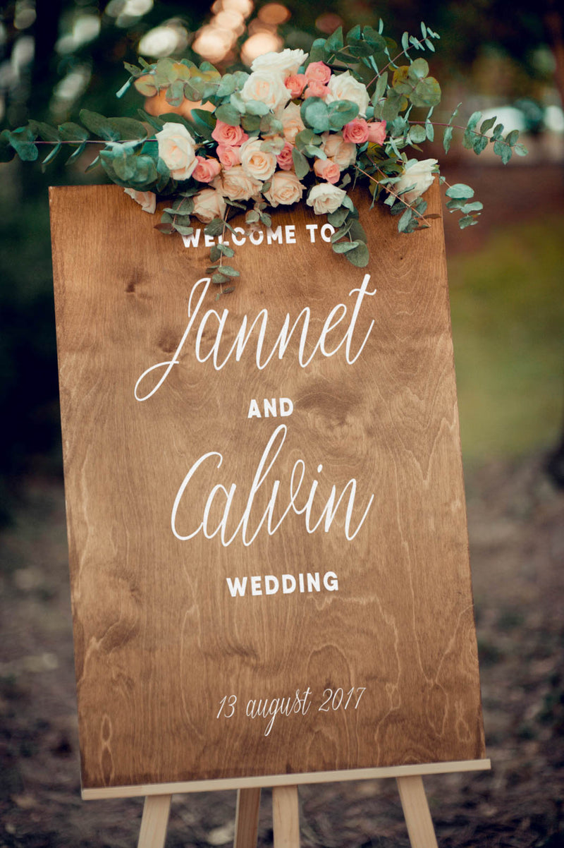 Personalized Wedding Welcome Large Sign