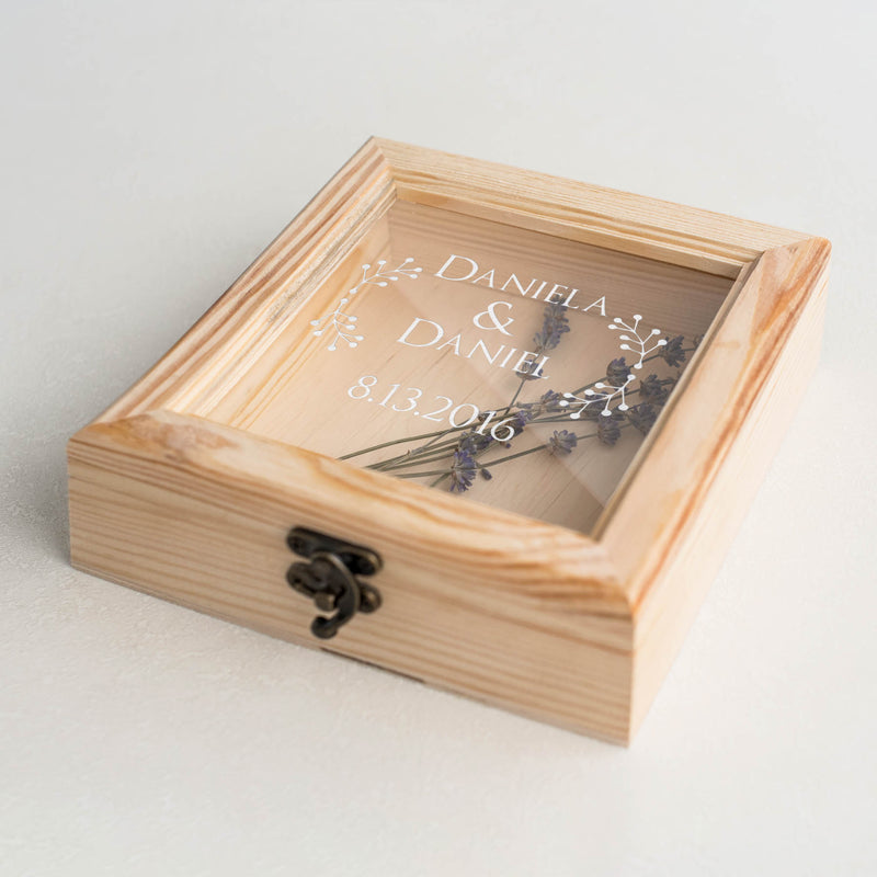 Modern Glass Engraved Unique Jewelry Box    - GlobalWedding