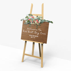 Wooden Rustic Shower Wedding Sign