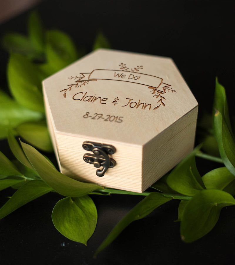 Personalized Geometric Jewelry Box