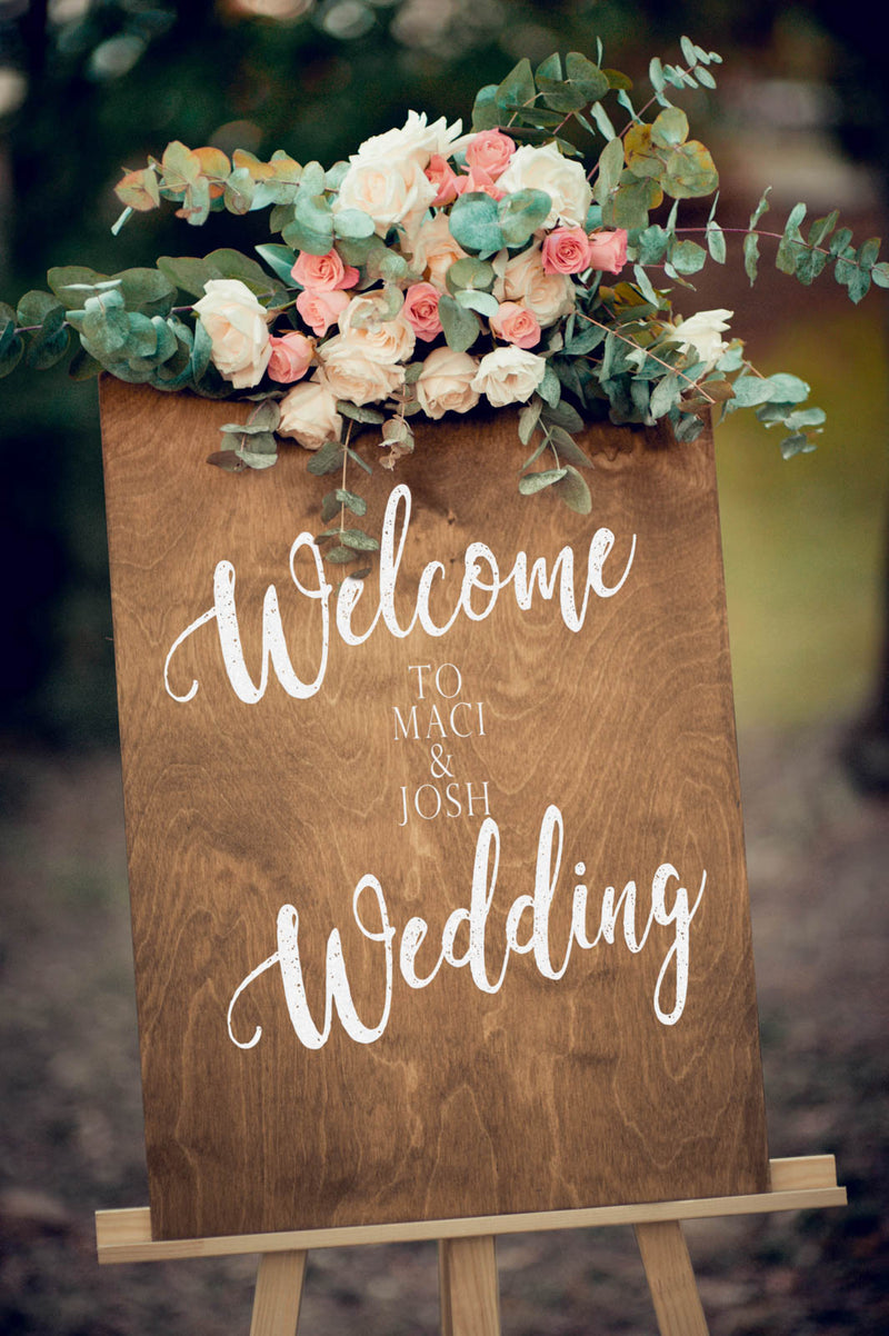 Wooden Bridal Personalized Porch Sign