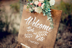 Wooden Rustic Welcome Wedding Sign