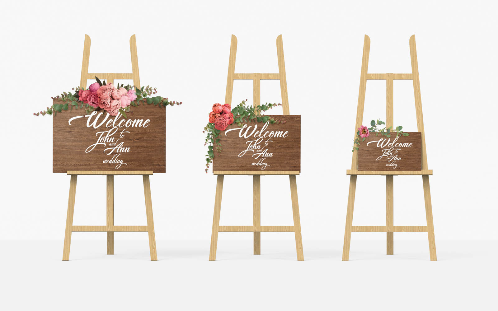 Horizontal Bridal Welcome Rustic Sign    - GlobalWedding