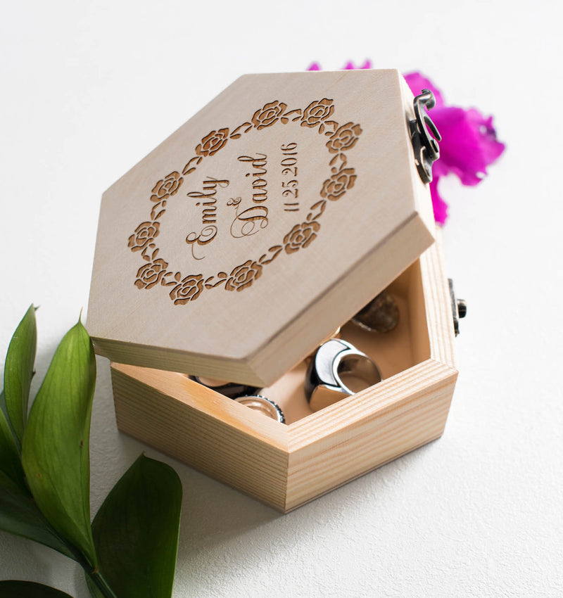 Personalized Rustic Unique Engraved Jewelry Box