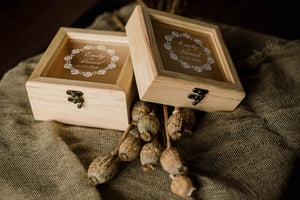 Geometric Elegant Custom Handmade Jewelry Box    - GlobalWedding