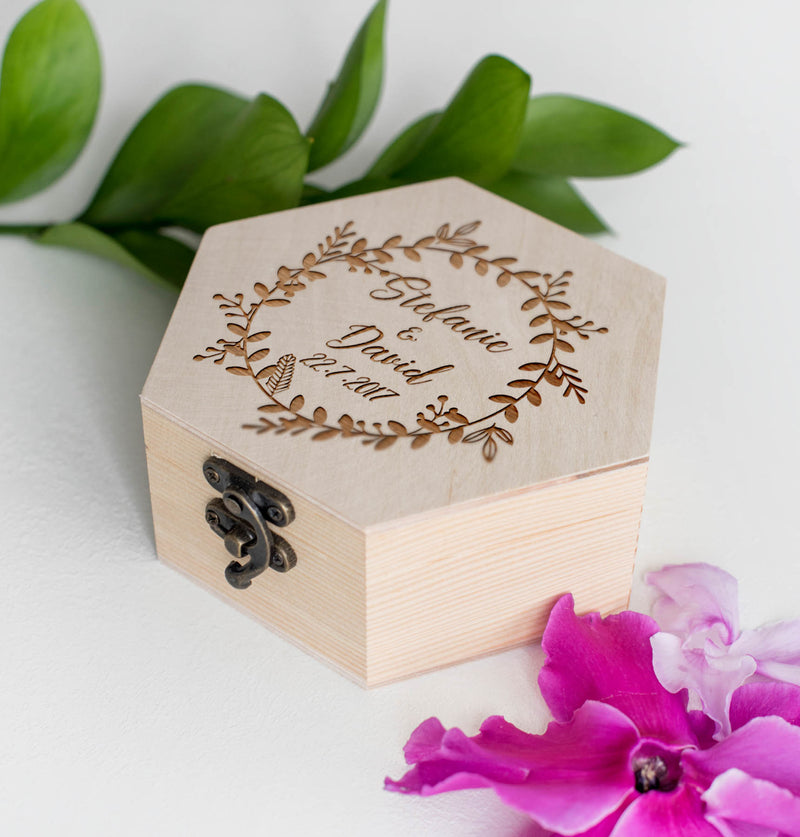 Handmade Decoration Geometric Custom Jewelry Box    - GlobalWedding