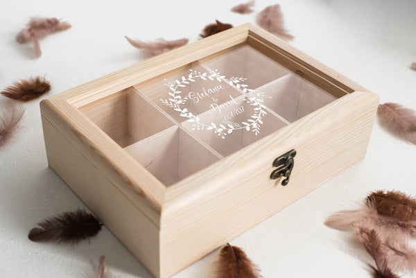 Engraved Vintage Modern Jewelry Box    - GlobalWedding