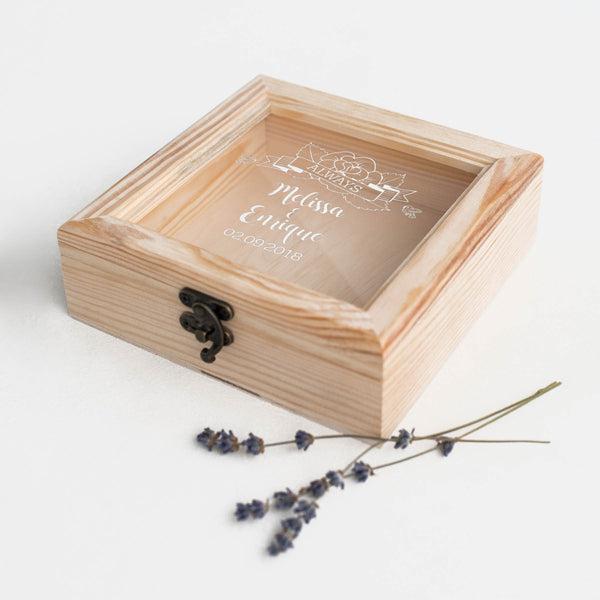 Modern Glass Engraved Unique Jewelry Box    - MatchMadeAbroad