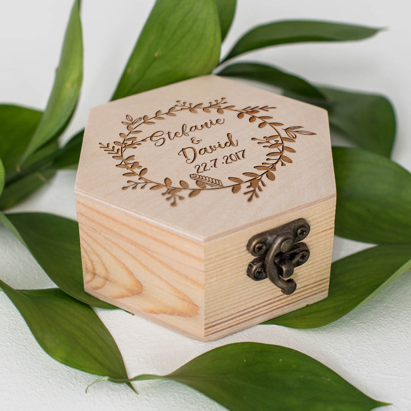 Rustic Custom Small Personalized Jewelry Box