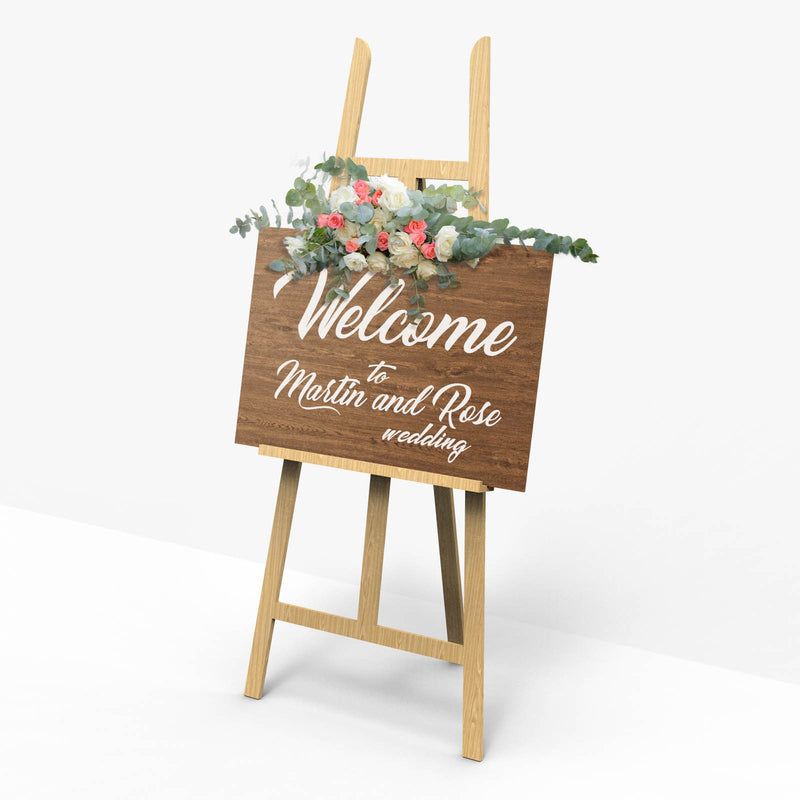 Large Wooden Rustic Welcome Sign    - GlobalWedding