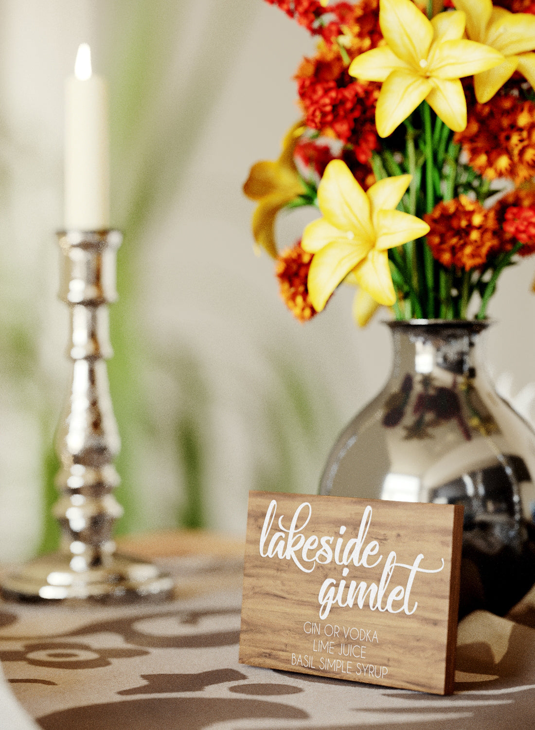 Handmade Personalized Modern Wedding Sign    - GlobalWedding
