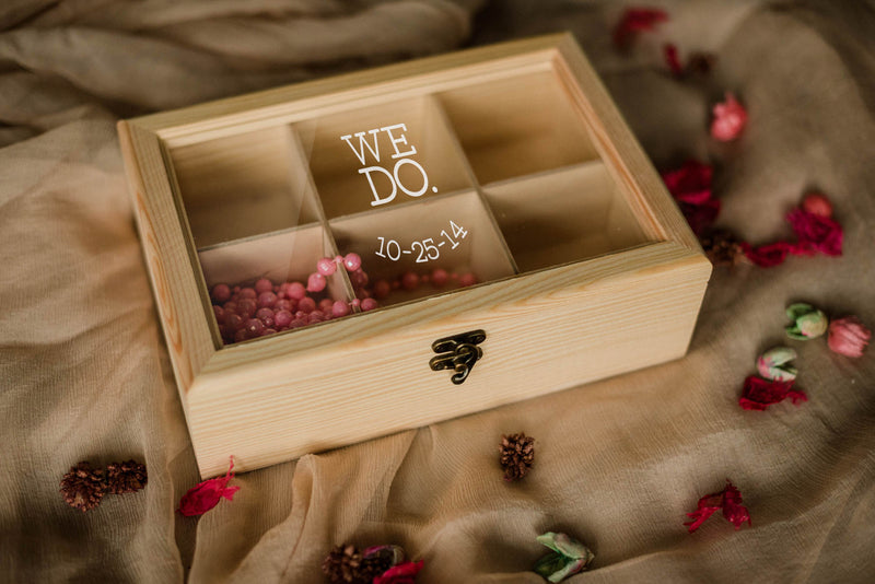 Geometric Personalized Jewelry Box    - MatchMadeAbroad