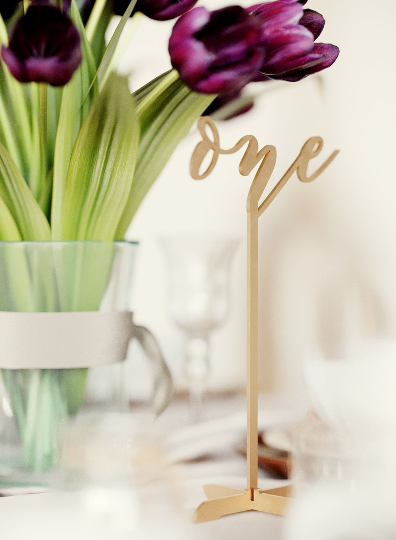Table Numbers - Vintage Custom Rose Gold Wedding Table Number