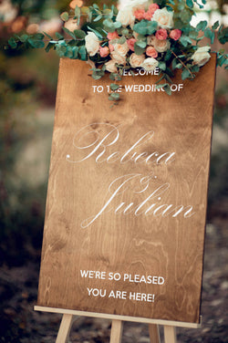 Vertical Wedding Reception Sign