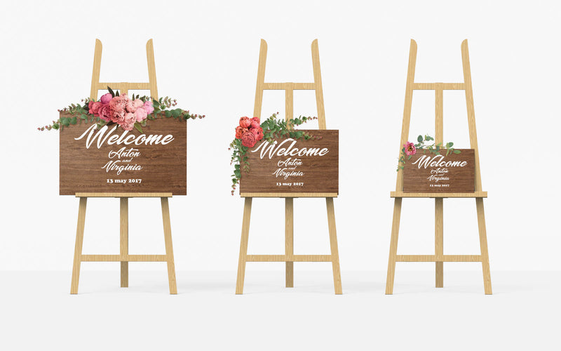 Large Bridal Shower Welcome Rustic Sign    - MatchMadeAbroad