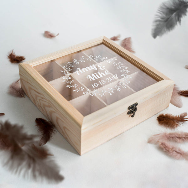 Rustic Glass Decoration Jewelry Box