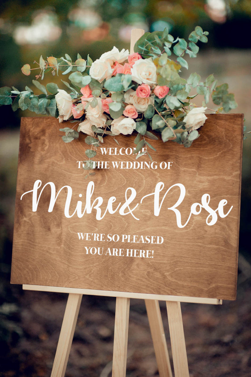 Shower Wooden Large Rustic Wedding Sign