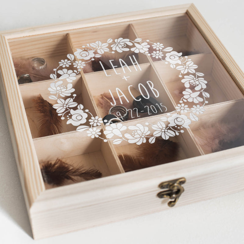 Decoration Engraved Jewelry Box    - GlobalWedding