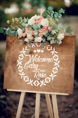 Porch Horizontal Welcome Wedding Sign