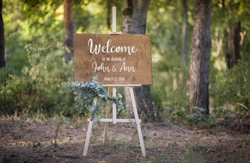Porch Wedding Welcome Rustic Sign