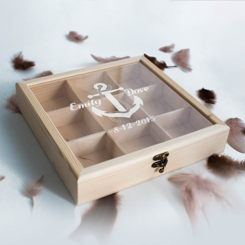 Engraved Elegant Vintage Jewelry Box    - MatchMadeAbroad