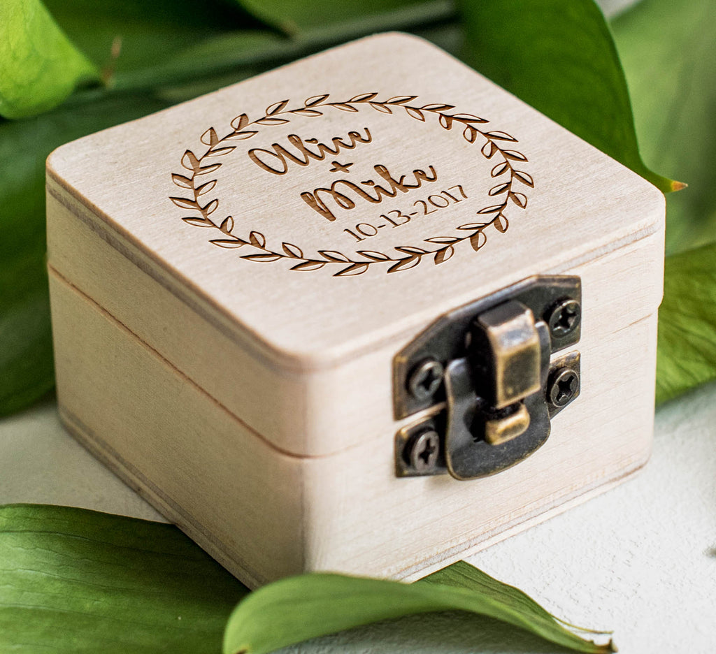 Jewellry Bearer Custom Wooden Ring Holder  Ring Box  - GlobalWedding