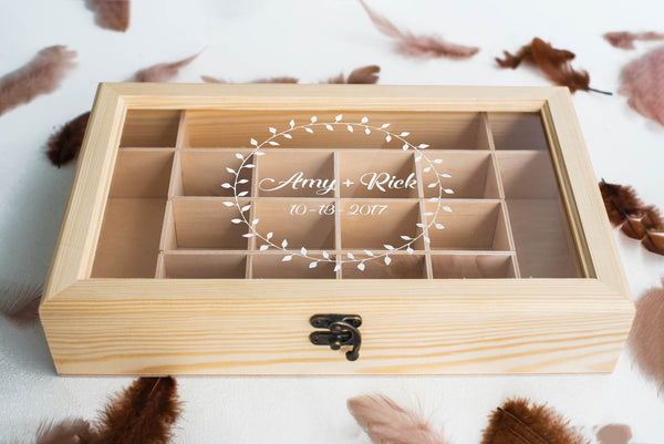 Engraved Elegant Rustic Geometric Jewelry Box    - GlobalWedding