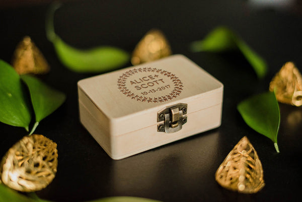 Decoration Geometric Custom Jewelry Box    - GlobalWedding